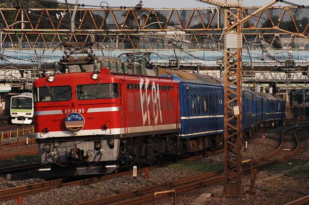 EF81-95 寝台特急 あけぼの 東北本線 日暮里~鶯谷