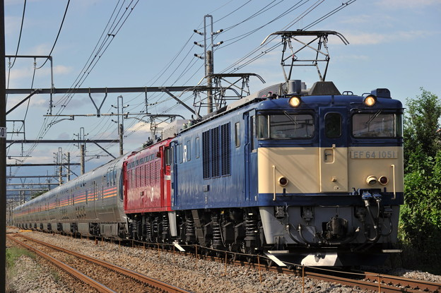 EF64-1051+EF81-133 E26 カシオペア 上越線 井野~新前橋  2019.9