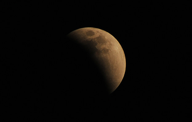 写真: 月食