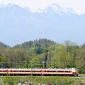 八ヶ岳と中央線189系臨時特急あずさ79号