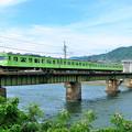 Photos: 宇治川を渡る103系電車