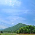 写真: 比良山と青空