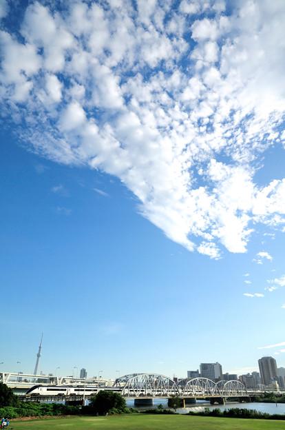 秋雲とスカイツリーと