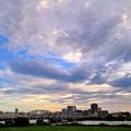 写真: 荒川夕景