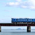 写真: 由良川橋梁を渡る丹鉄列車 10