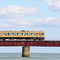 写真: 由良川橋梁を渡る丹鉄列車 11