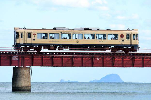 写真: 由良川橋梁を渡る丹鉄列車 13