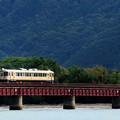 写真: 由良川橋梁を渡る丹鉄列車 14