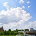 北綾瀬駅を出発する16000系電車