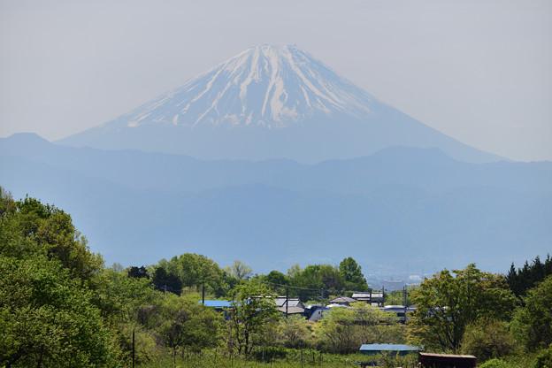 富士山とE353系特急あずさ号