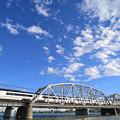Photos: 荒川橋梁を渡る京成スカイライナー