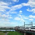 Photos: ちぎれ雲とスカイライナー