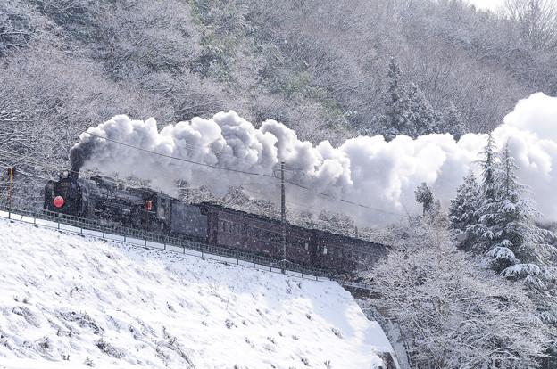 雪をかき分け驀進