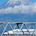 富士山と700系新幹線