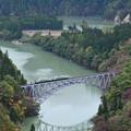 Photos: 只見線 第一橋梁 俯瞰