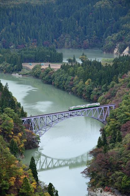 只見線 第一橋梁 俯瞰
