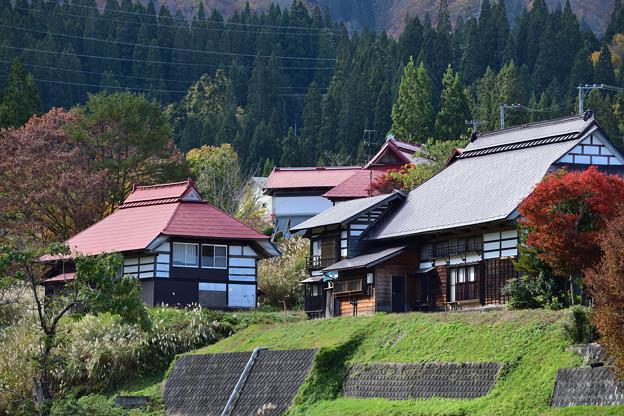 会津 沼沢湖付近の集落