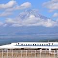 富士山見えたり見えなくなったり