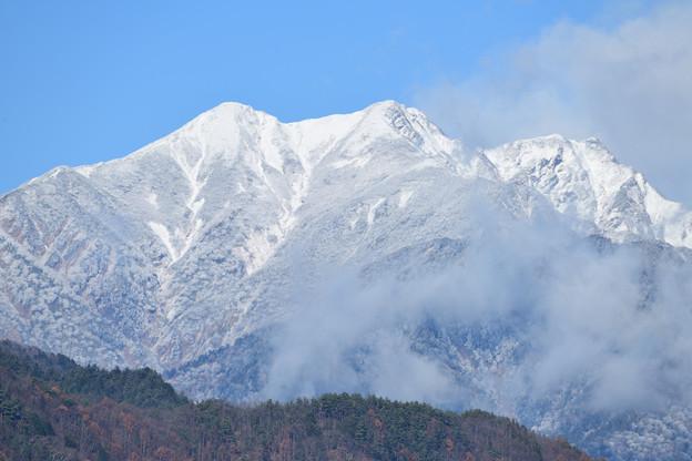 新雪の鹿島槍ヶ岳
