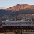 Photos: 夕日に輝く北志賀の山