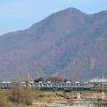 鉄橋を渡る長野電鉄8500系電車