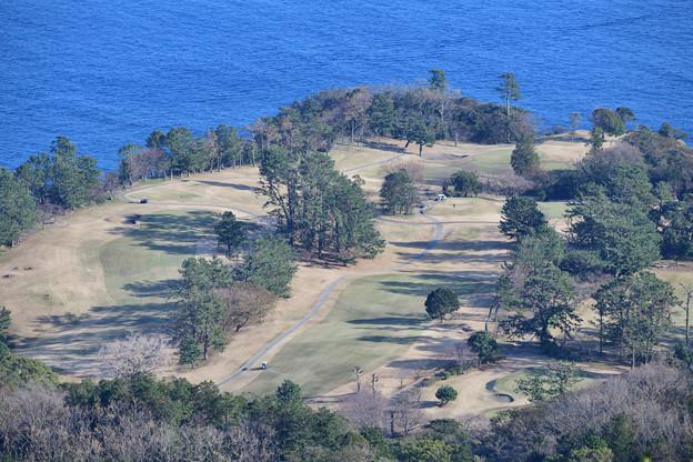 海が見えるゴルフコース