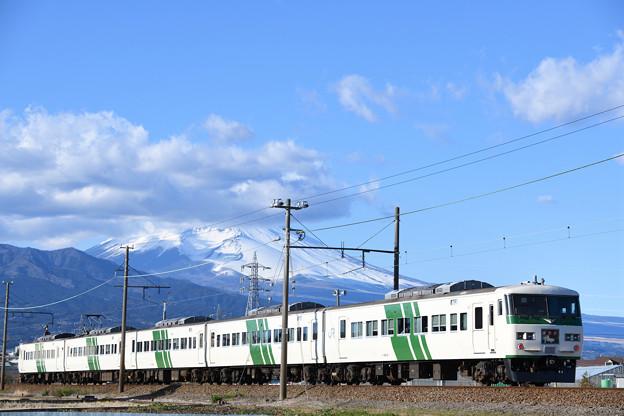 185系 踊り子号と富士山