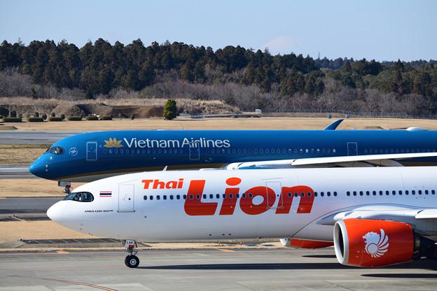 タイライオン航空とベトナム航空の並び