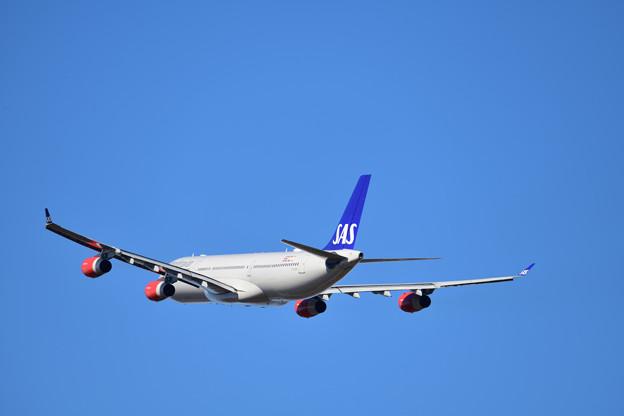スカンジナビア航空 A340 4発機