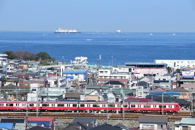 浦賀水道と1000形電車