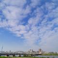 天を埋める勢いの高層雲と京成電車