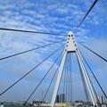 吊り橋とうろこ雲