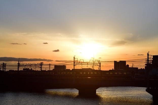 夕焼け鉄橋