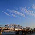 Photos: 夕日に輝く3500形電車