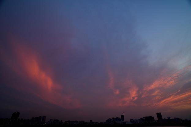 微かな夕焼け