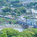 Photos: 湊川橋梁とE257系特急さざなみ号