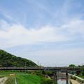 Photos: 白狐川を渡る113系電車