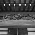 Photos: 龍の彫刻 モノクロ