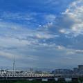 Photos: スカイツリーと荒川橋梁を渡る京成電車