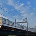 荒川橋梁を渡る3400形京成電車