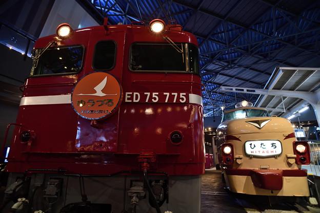 ED75と485系特急ひたち