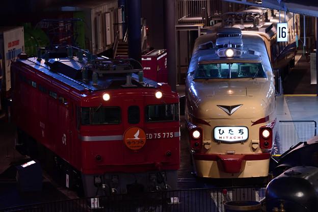 Photos: ED75電機ゆうづる 485系特急ひたち