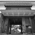 Photos: 常盤木門 モノクローム