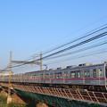 Photos: 荒川橋梁を渡る京成電鉄3500形電車