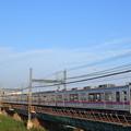 Photos: 荒川橋梁を渡る京成電鉄 3500形電車
