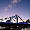 Photos: 清洲橋 ライトアップ そして残照