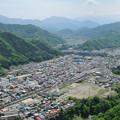 Photos: 中央線 岩殿山俯瞰 大月駅から富士山方向を望む