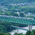 Photos: 鳥沢鉄橋を渡るE257特急電車
