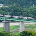鳥沢鉄橋を渡る185系特急はまかいじ号