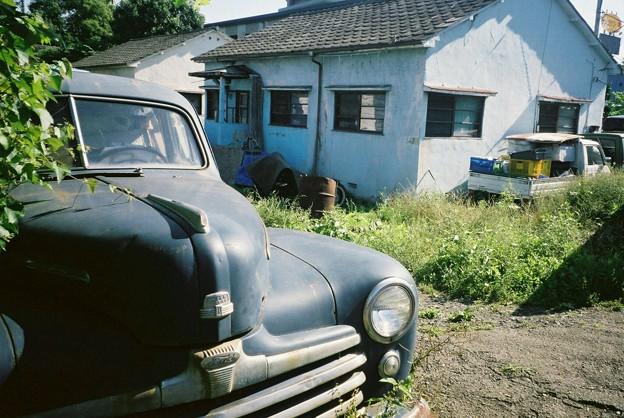 福生 米軍ハウスとアメ車